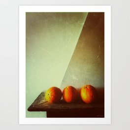 Composición con naranjas  Art Print