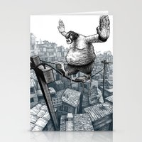 furry Stationery Cards featuring Furry Fingers by Jason Tirendi