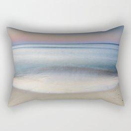 """Serenity"". Sunset at the beach Rectangular Pillow"