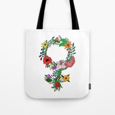 Feminist flower in color Tote Bag