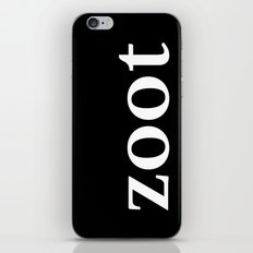 Zoot - inverse edition iPhone & iPod Skin