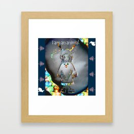 Animal Girl Framed Art Print