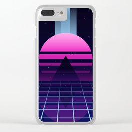 Neon Twilight Clear iPhone Case