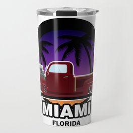 Miami muscle car Travel Mug