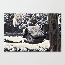Snow Bird Resort Canvas Print