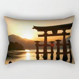 Itsukushima Shrine on Miyajima, Japan Rectangular Pillow