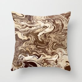 Chocolate Swirl Throw Pillow