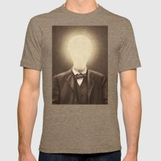 The Idea Man  SMALL Tri-Coffee Mens Fitted Tee