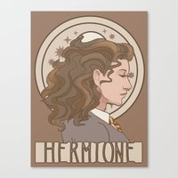 hermione Canvas Prints featuring Hermione by MichelleLynne