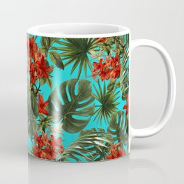 Aloha Flower Jungle Pattern Coffee Mug