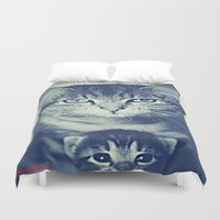 mom Duvet Covers featuring Mom by arnedayan