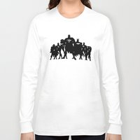 justice league Long Sleeve T-shirts featuring Justice League Silhouette by iankingart