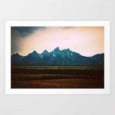 Tetons Art Print