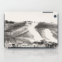 ski iPad Cases featuring Ski Town by Patti Toth McCormick