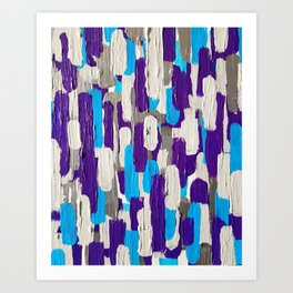 Calm Stripes Overload Art Print