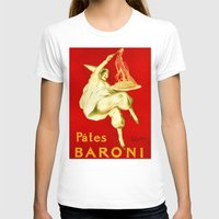 pasta T-shirts featuring Pasta Baroni Leonetto Cappiello by aapshop