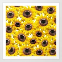 sunflowers Art Prints featuring Sunflowers by Regan's World