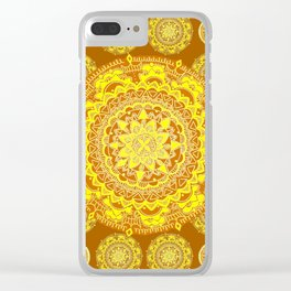 Gold and Rust Patterned Mandalas Clear iPhone Case