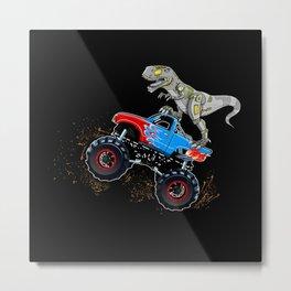 Monster Truck Steel Iron Dino Gift Motif Metal Print