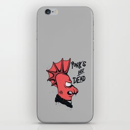 Punk's not dead iPhone Skin