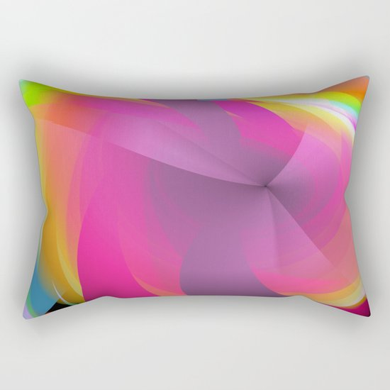 Abstract in rainbow colors and an optical effect Rectangular Pillow