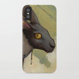 Melancholic rabbit iPhone Case