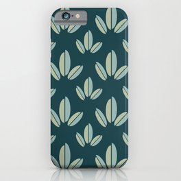 Modern Leaves Dk Green iPhone Case