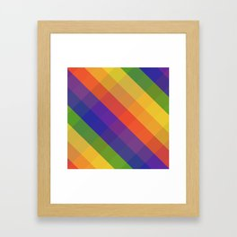 CRISS CROSS RAINBOW... Framed Art Print
