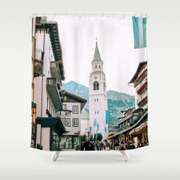 Time Stands Still | Cortina d'Ampezzo, Italy Shower Curtain