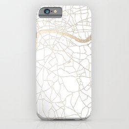 White on Gold London Street Map iPhone Case