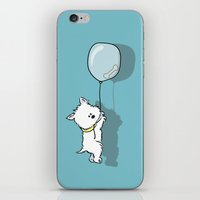 westie iPhone & iPod Skins featuring Hungry Westie Puppy by Lucy Olver