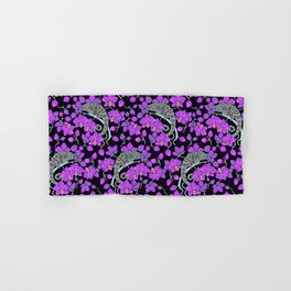 Chameleons and orchids (Gothic) Hand & Bath Towel