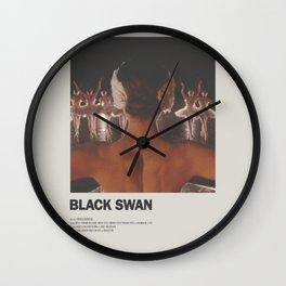 Black Swan Minimal Movie Poster Wall Clock