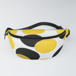 Yellow and black abstract. Fanny Pack