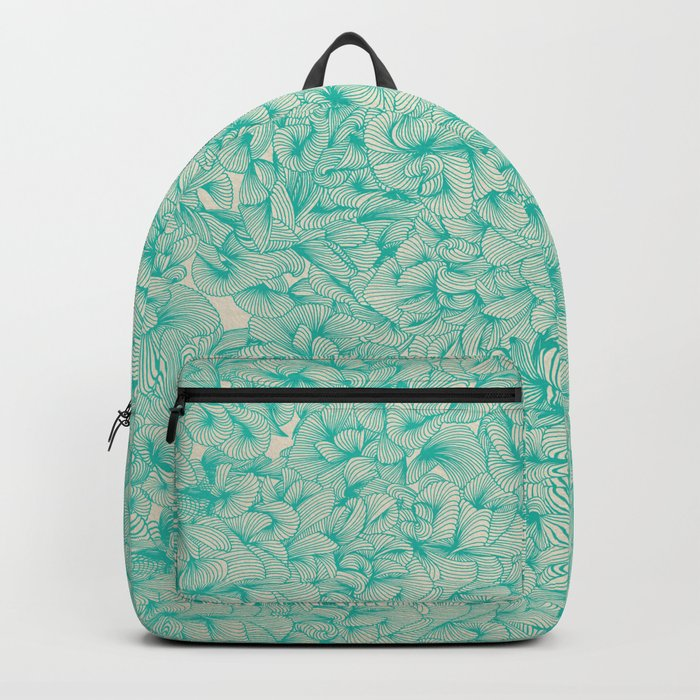 Abstract Pattern – Turquoise Backpack