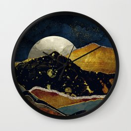 Bronze Night Wall Clock