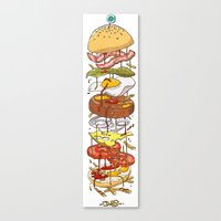burger Canvas Prints featuring Burger by Duke.Doks