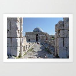 Amman Citadel Art Print