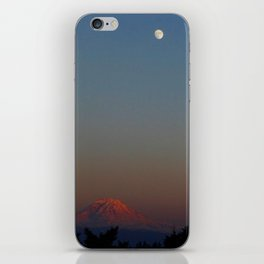 Mount Rainier Moon Rise iPhone Skin