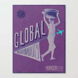 Hungerfree -global sustainability Canvas Print