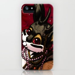 Jackalope, Pearls, and Roses iPhone Case