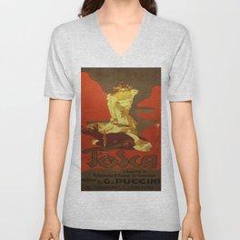Vintage poster - Tosca Unisex V-Neck