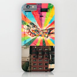 Street Art Mural, Times Square Kiss Recreation iPhone Case