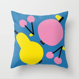 Pear, Apple & Cherries Throw Pillow