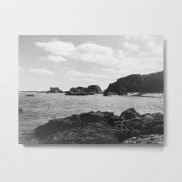 B&W Okinawa, Japan Beach Ocean View 2 Metal Print