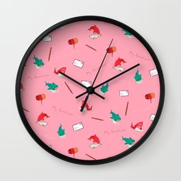 Pink Shark and Whale Shark Wall Clock