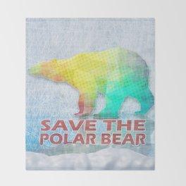SAVE THE POLAR BEAR Throw Blanket