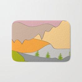Berge, Täler und Auen Bath Mat