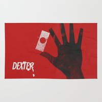 movie poster Area & Throw Rugs featuring Dexter - Alternative Movie Poster by Stefanoreves
