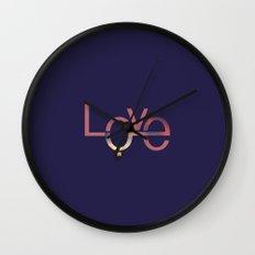 Love in English and Arabic Wall Clock